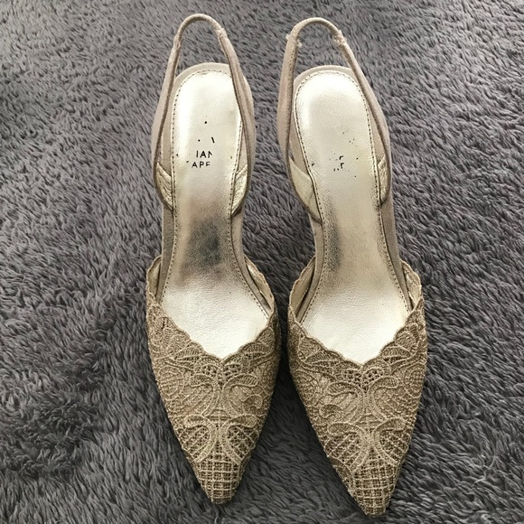 78ba11c475e Adrianna Papell Embroidered Lace Slingback Pumps